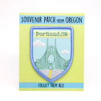 Portland, OR souvenir patch St. Johns bridge