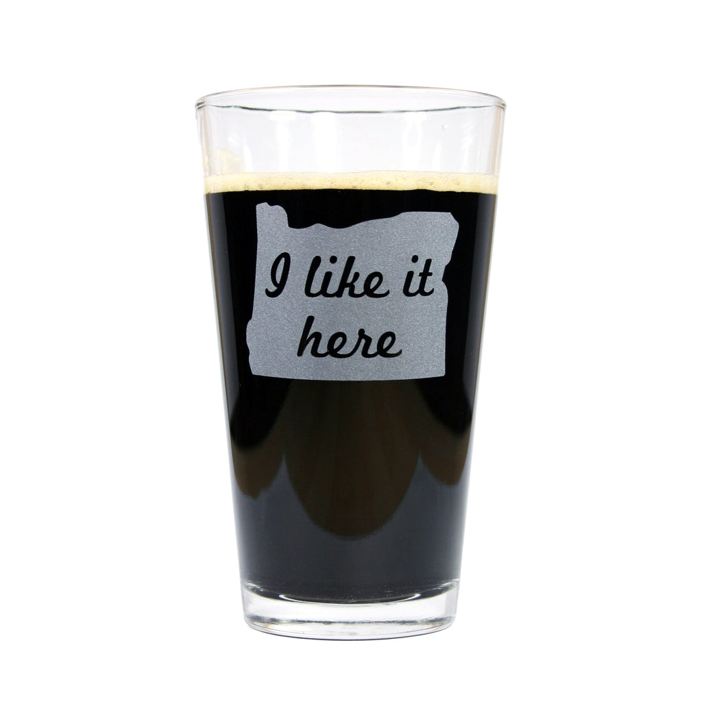 I like it here pint glass