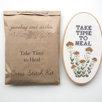 Take Time to Heal Cross Stitch Kit