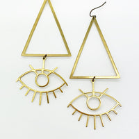 Triangle Eye Earrings
