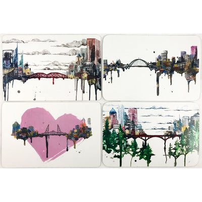 Portland Watercolor Postcard Set