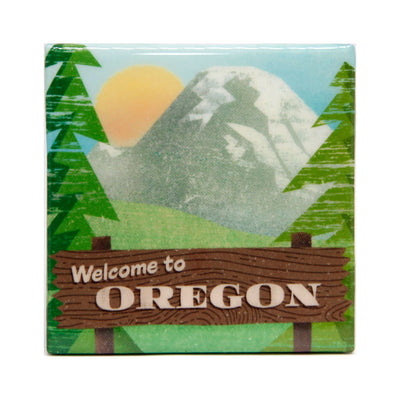 welcome to Oregon tile coaster