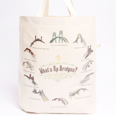 What's up Bridges Portland tote bag