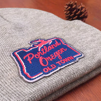 Portland, Oregon old town stag sign beanie