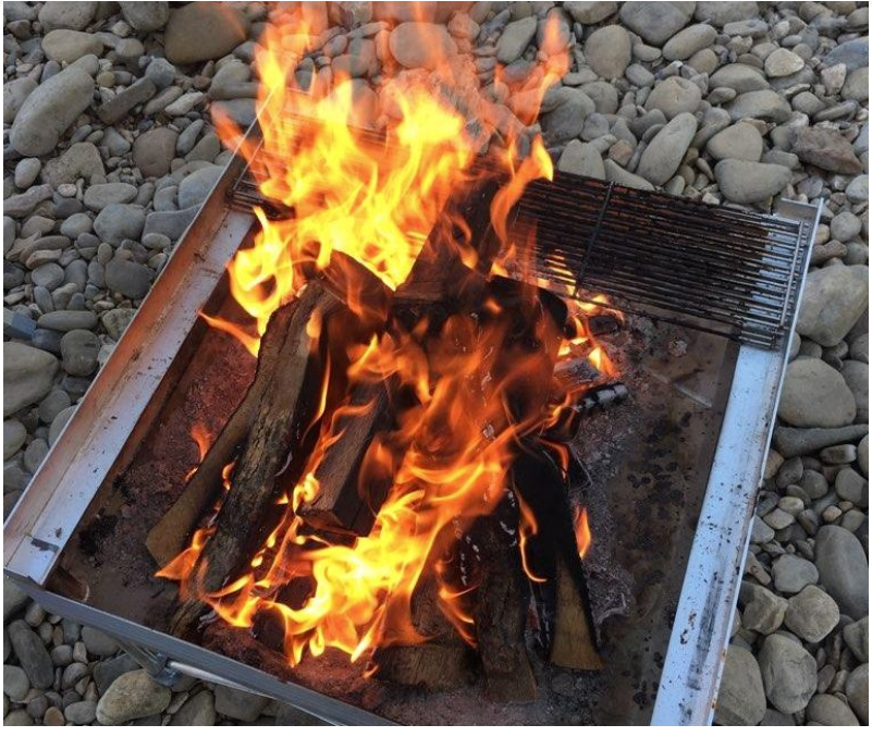 ARAdventruregram.com Product Review On The Pop-Up Fire Pan: By Deuce