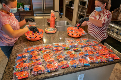 Use individual ziplock bags to keep candy seperated