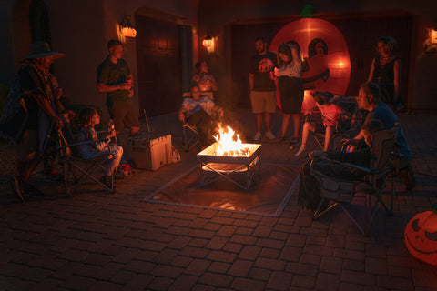 Enjoy a portable fire pit during Halloween 2020