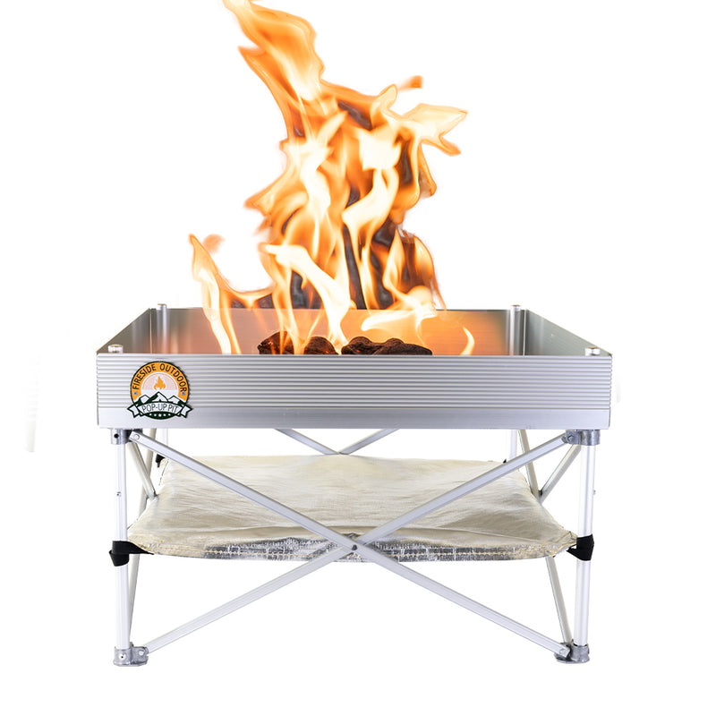Pop-Up Fire Pit + Heat Shield (Bonus Pack)