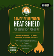 Pop-Up Fire Pit Heat Shield