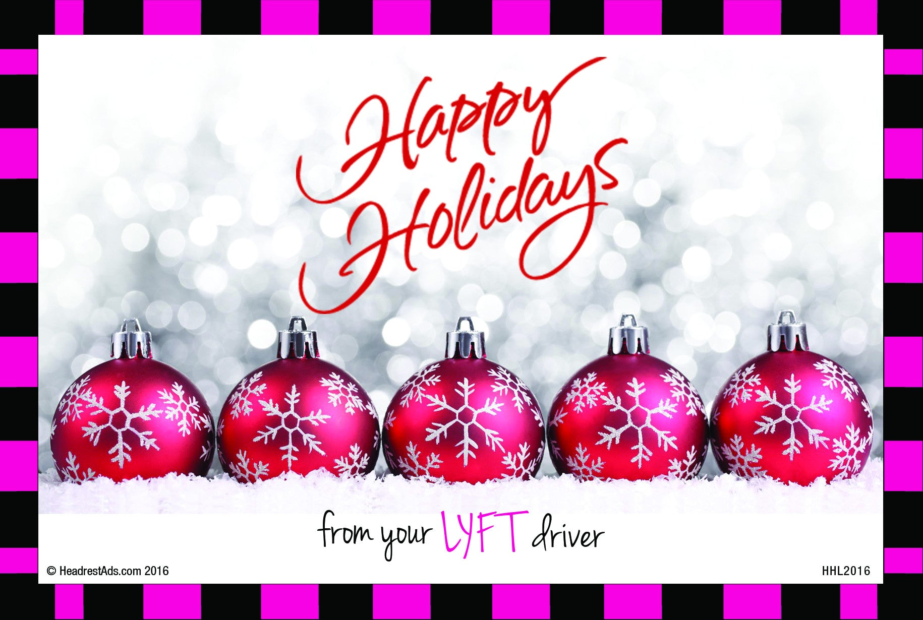 Lyft inserts headrestads happy holidays ridecap lyft insert magicingreecefo Image collections