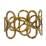 Electroplated Brass Bubble Cuff