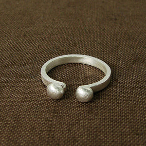Two Spheres Ring