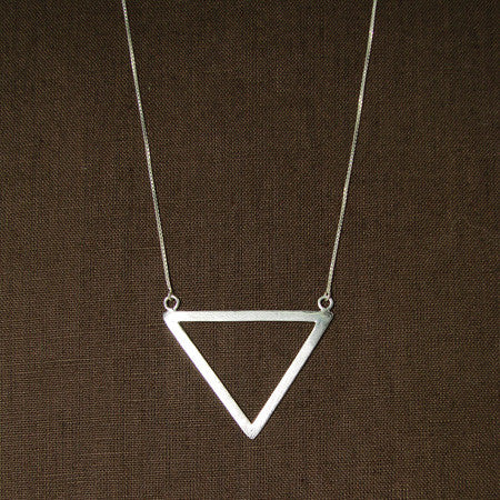 Triangle of Bali Sterling Silver Pendant Necklace, Handmade, Fair Trade