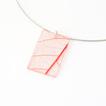 Fossil Leaf Red Necklace