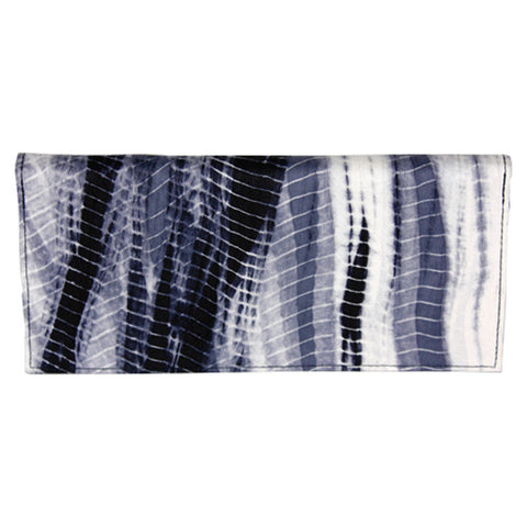 Black Tie Dye Hand Woven Silk Wallet, Fair Trade