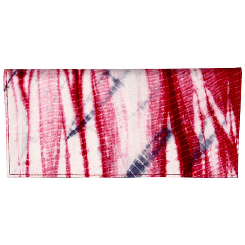 Red Tie Dye Hand Woven Silk Wallet, Fair Trade