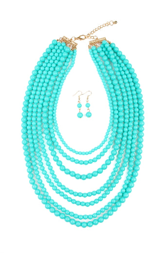 """Luxe Layers"" Necklace Set - Teal"