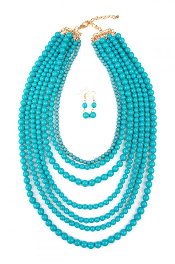 """Luxe Layers"" Necklace Set - Turquoise"