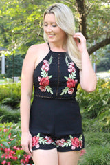 """Kahlo Me Over"" Romper - Black"