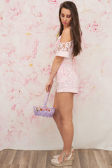 """Ready For Anything"" Romper - Light Pink"
