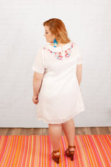 """Simple Truths"" Dress - White Floral Mix"
