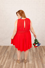"""Turn Up The Heat"" Dress - Red"