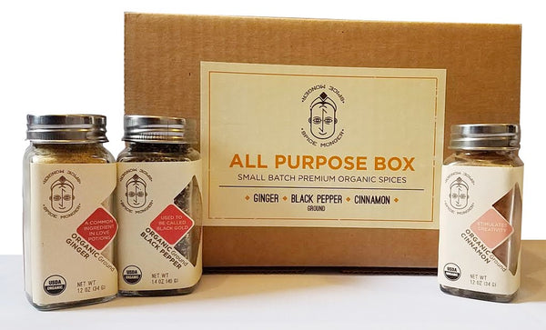 All Purpose Box - Ginger Powder,  Black Pepper Ground, Cinnamon Powder