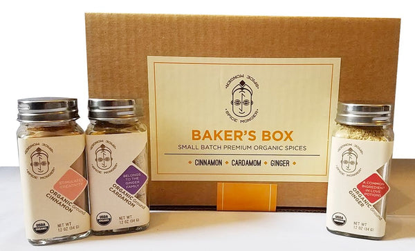 Baker's Box - Cinnamon powder, Cardamom powder, Ginger powder