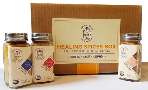 Healing Spices Box - Turmeric powder, Ginger powder, Cinnamon powder