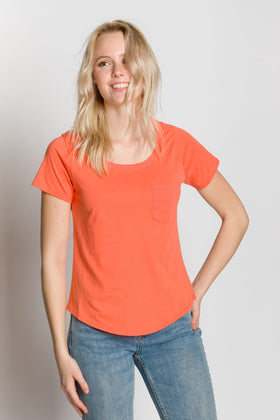 Polly | Dropped Neckline Tee