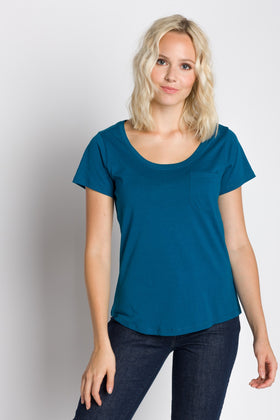 Polly | Women's Dropped Neckline Tee