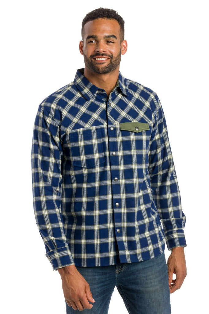 Jasper | Long Sleeve Snap Button Up Shirt