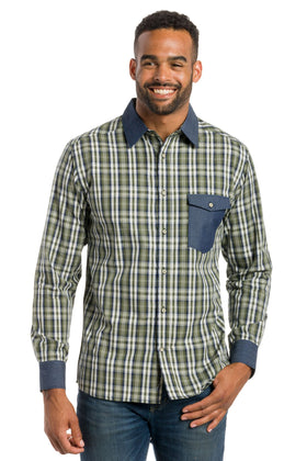 York | Men's Long Sleeve Shirt With Trim