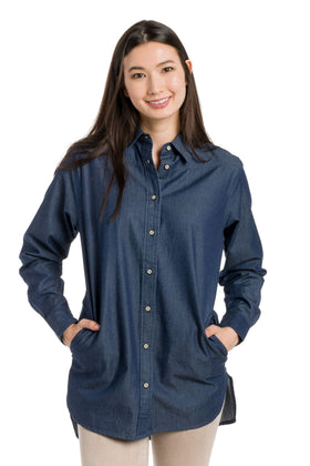 Catrine | Denim Tunic Top