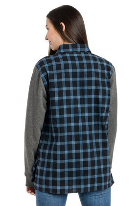 Aria | Long Sleeve Flannel Tunic