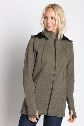 Alice | Women's Full Zip Hooded Long Coat