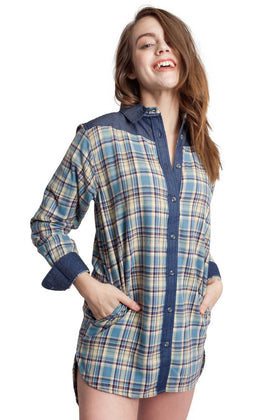 Cara | Flannel Tunic Shirt