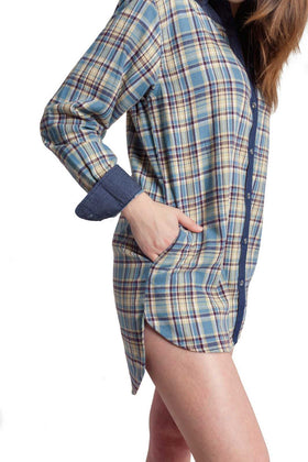 Cara | Women's Flannel Tunic Shirt
