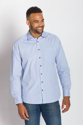 St Tropez | Men's Cotton Pinstripe Button Up Shirt