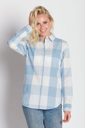 Julie | Long Sleeve Plaid Button Up Shirt