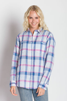 Delora | Women's Long Sleeve Linen Shirt