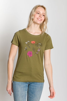 Sketched Floral | Women's Printed T-Shirt
