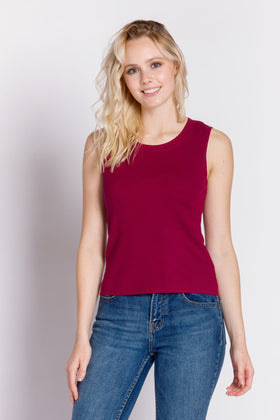 Lyla | Rib Knit Sleeveless Top
