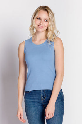 Lyla | Women's Rib Knit Sleeveless Top