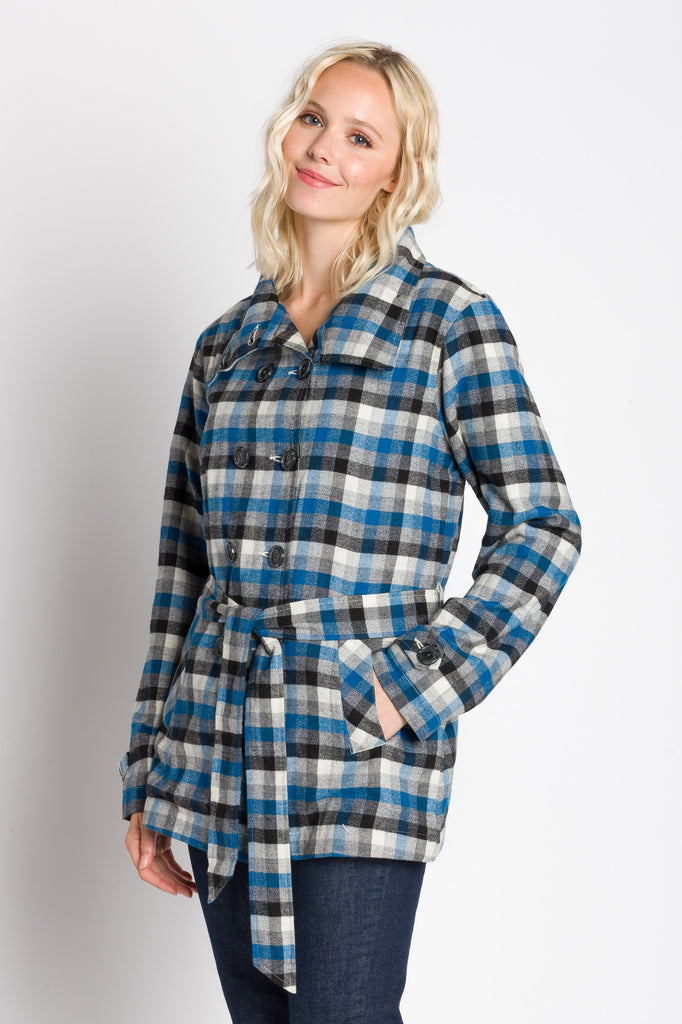 Kinsley | Women's Lined Brushed Double Breasted Coat