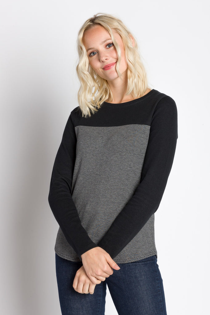 Ode | Women's Long Sleeve Plated Two Tone Top