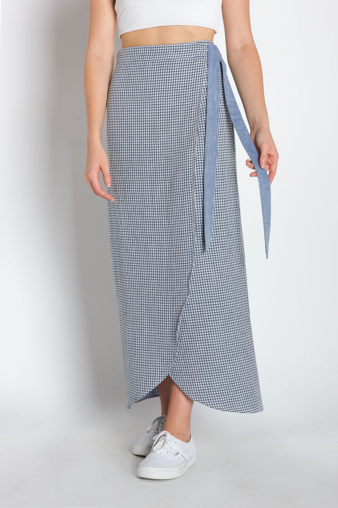 Patricia | Women's Calf Length Woven Wrap Skirt