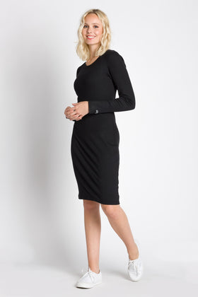 Rebecca | Women's Long Sleeve Rib Dress