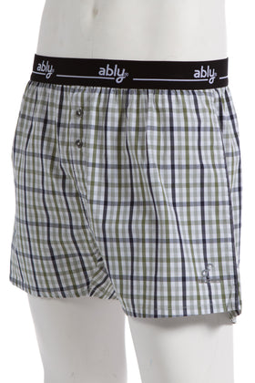 Vacation | Men's Woven Plaid Boxer Shorts