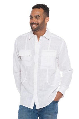Tropic Breeze | Long Sleeve Linen Shirt